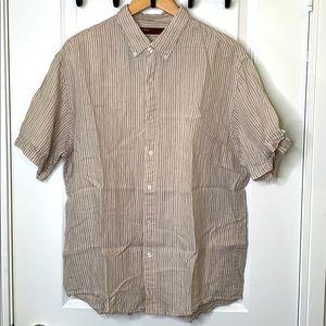 Perry Ellis XL 100% Linen Short Sleeve Shirt